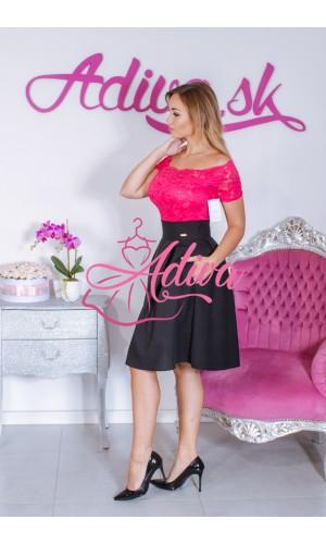 Čierna krátka áčková sukňa