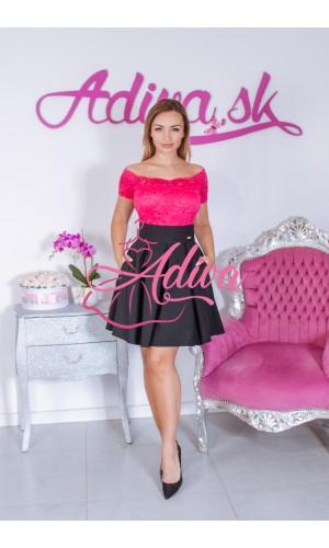 Čierna áčková mini sukňa