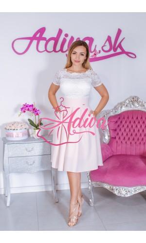 Svetloružová krátka áčková sukňa