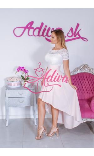Svetloružová asymetrická sukňa