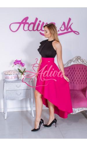 Cyklamenová asymetrická sukňa