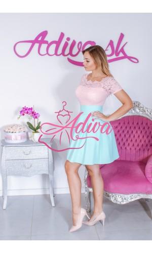 Svetlomodrá áčková mini sukňa