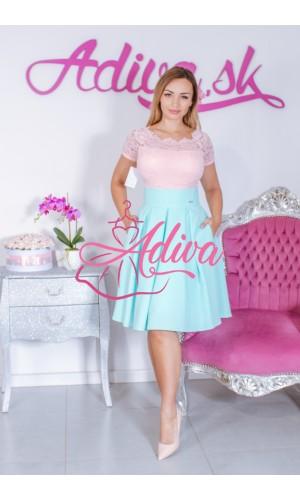 svetlomodrá krátka áčková sukňa
