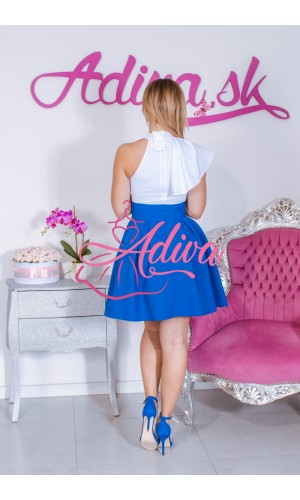 Modrá áčková mini sukňa