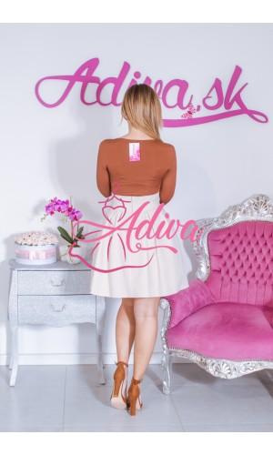 Béžová áčková mini sukňa