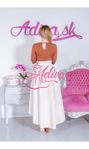 Béžová asymetrická sukňa