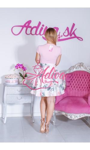 Kvietkovaná áčková mini sukňa
