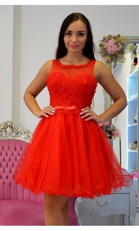 ffc752df6 Krátke spoločenské šaty červené Passion flower